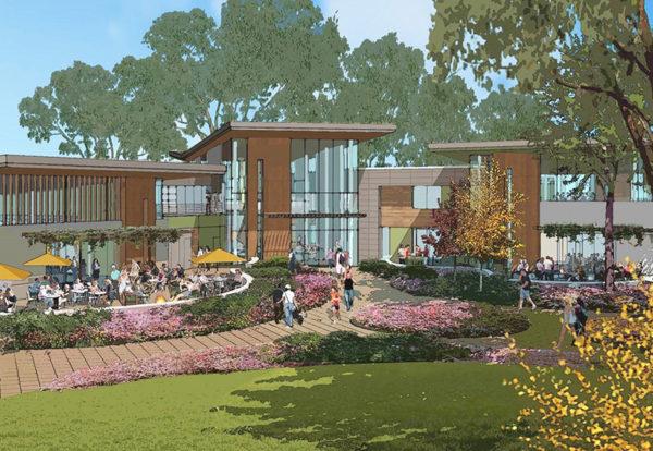 Burlingame Rec Center - pavilions rendering