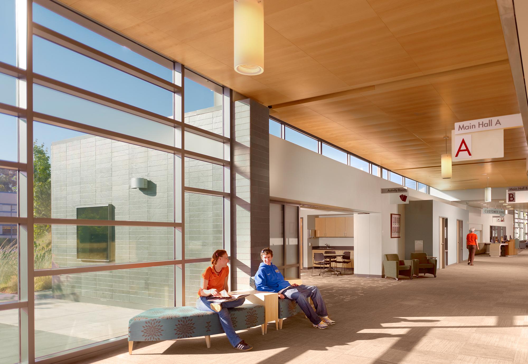 San Leandro Senior Community Center central corridor